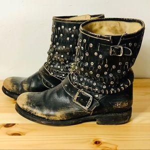 Frye Jenna Studded Moto Boots